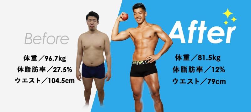 Apple GYM ビフォア・アフター1